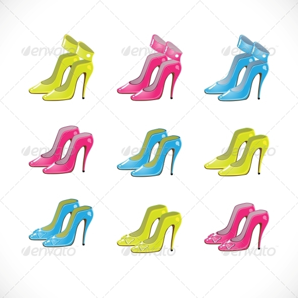 GraphicRiver Woman Shoes Collection 6452262