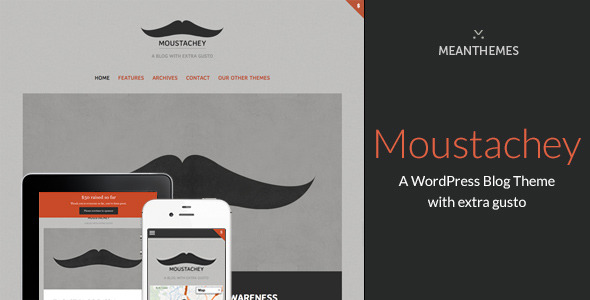 Moustachey: A Blog theme with extra gusto