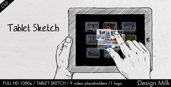 After Effects Project - VideoHive Tablet Sketch 674364