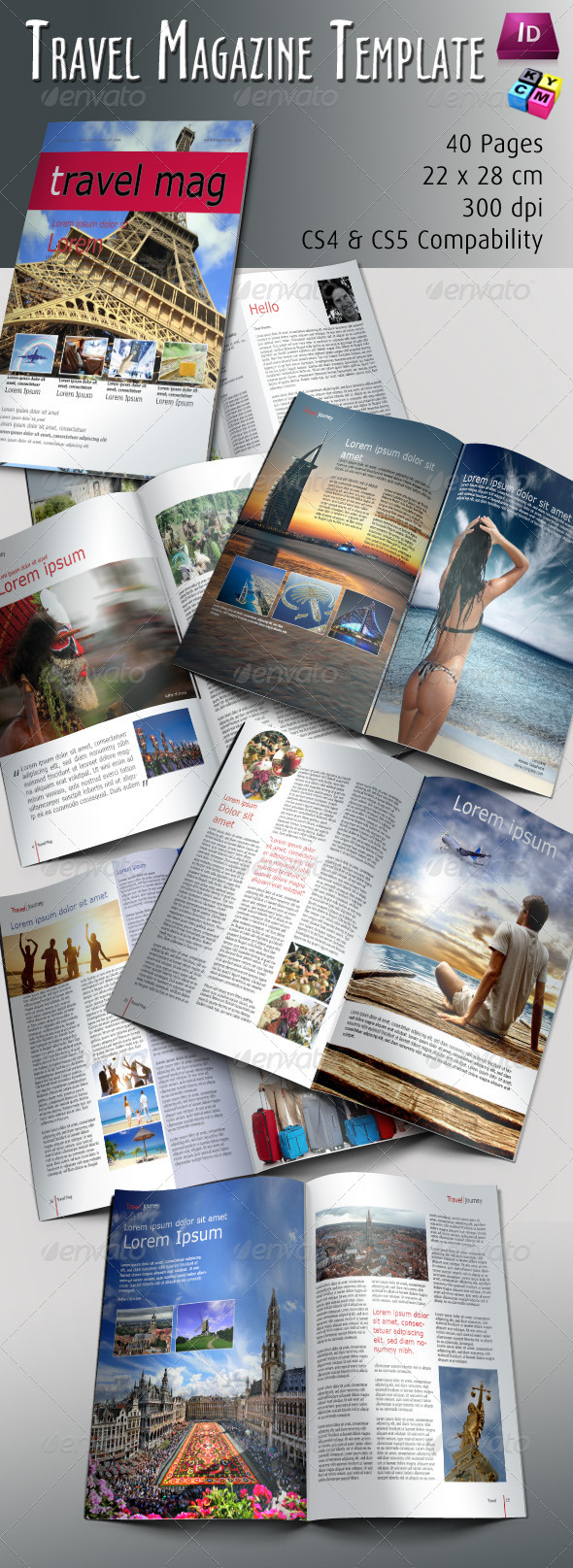 GraphicRiver Travel Magazine Template 674369