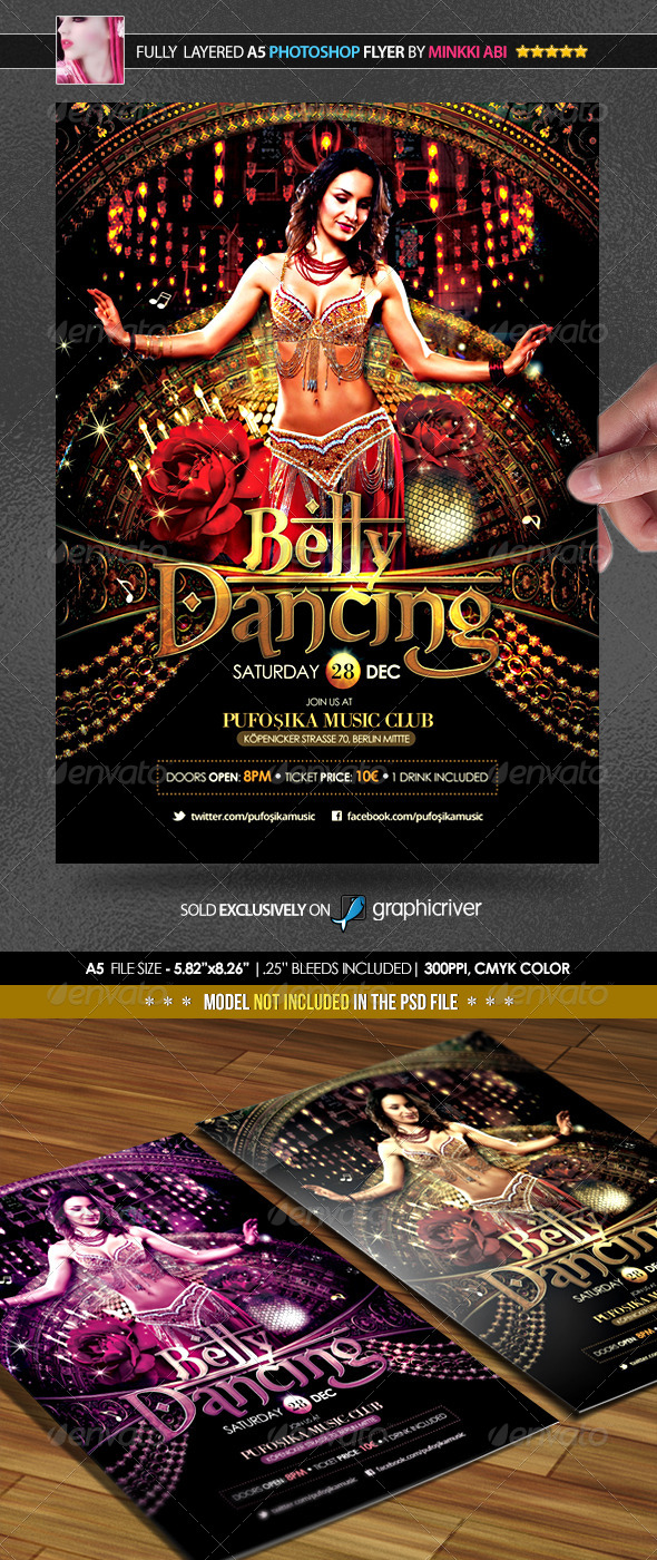 GraphicRiver Belly Dancing Poster Flyer 6453608