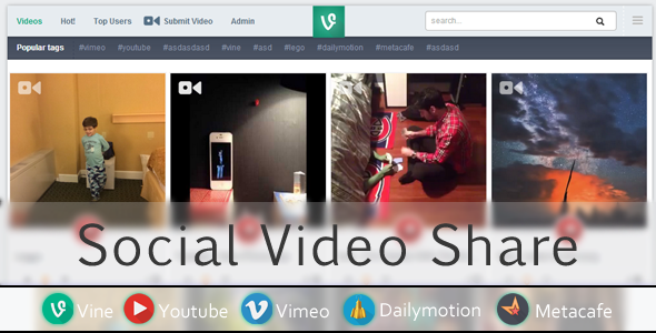 CodeCanyon Social Video Share 6418944