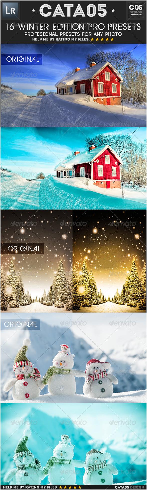 GraphicRiver 16 Winter Edition Pro Presets 6453643