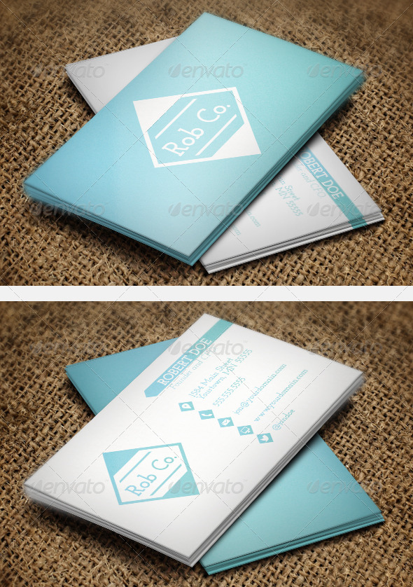GraphicRiver Clean Gradient Business Cards 6419439