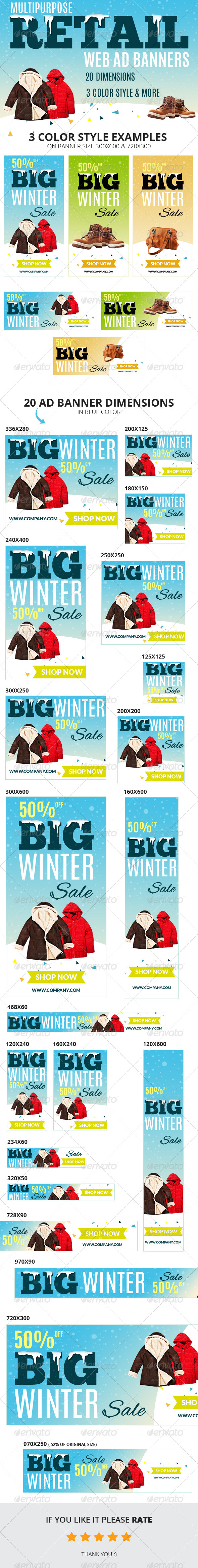 GraphicRiver Multipurpose Retail Web Ad Banners 6455152