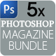 5x Magzine Template Bundle - GraphicRiver Item for Sale