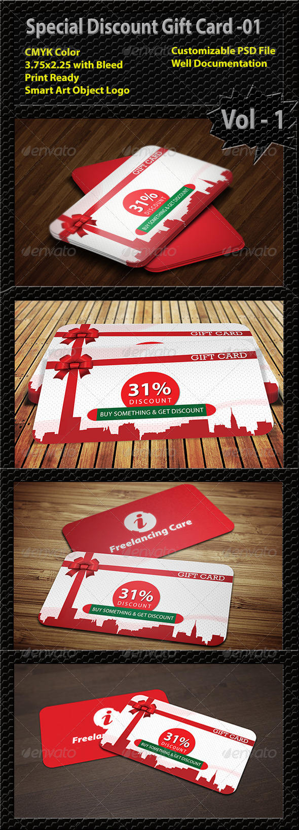 GraphicRiver Special Discount Gift Card 01 6422288
