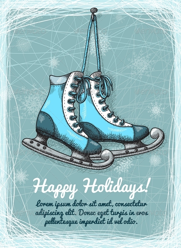 GraphicRiver Skate Holidays Winter Invitation 6409008