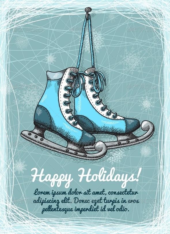 GraphicRiver Skate Holidays Winter Invitation 6409008