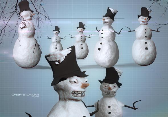 3DOcean Snowman Creepy 6456004