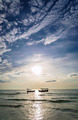 fishing boats at sunset in koh rong Cambodia - PhotoDune Item for Sale