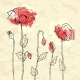 Red Poppies on a Crumpled Paper Background - GraphicRiver Item for Sale