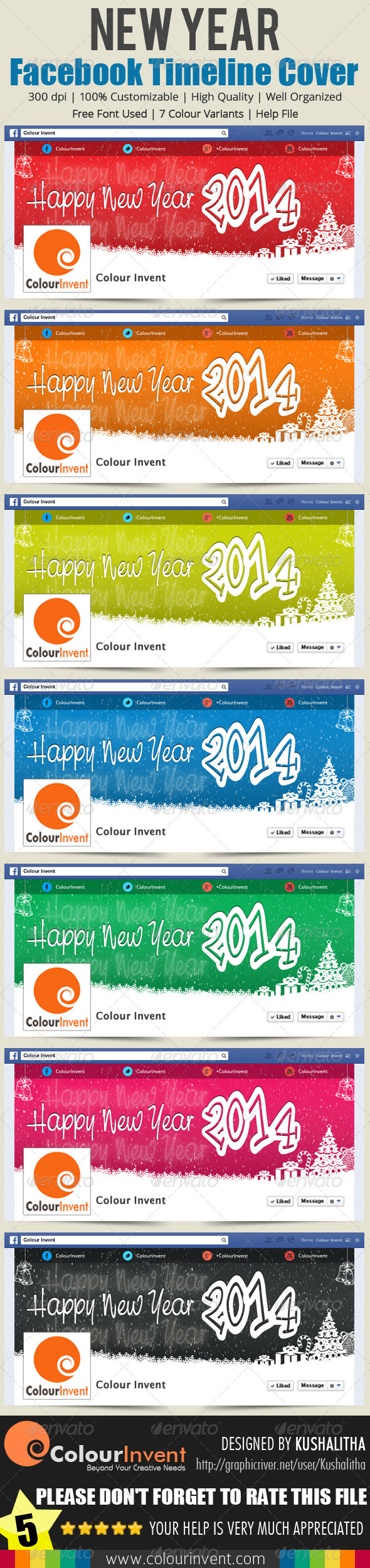GraphicRiver New Year Facebook Cover 6456609