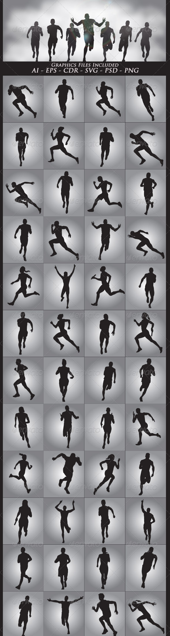 GraphicRiver Running Silhouettes 6457562
