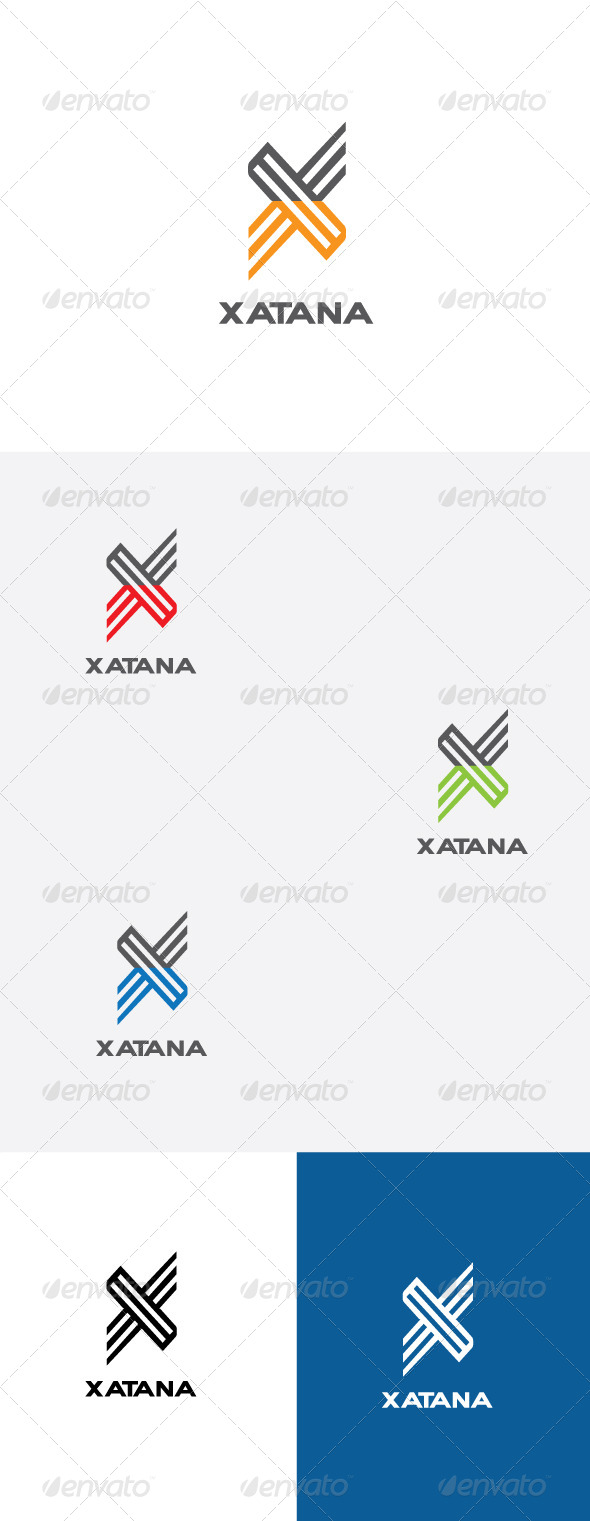 GraphicRiver X Letter Logo Template 6457920