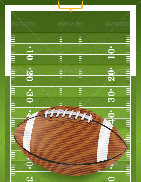 GraphicRiver Realistic Football on Textured Football Field 6459473