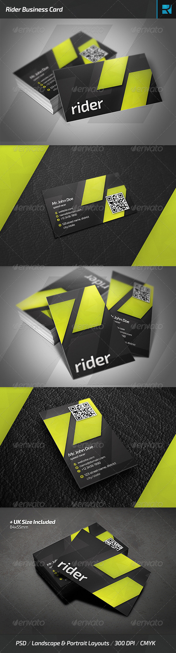 GraphicRiver Rider Business Card 6459730