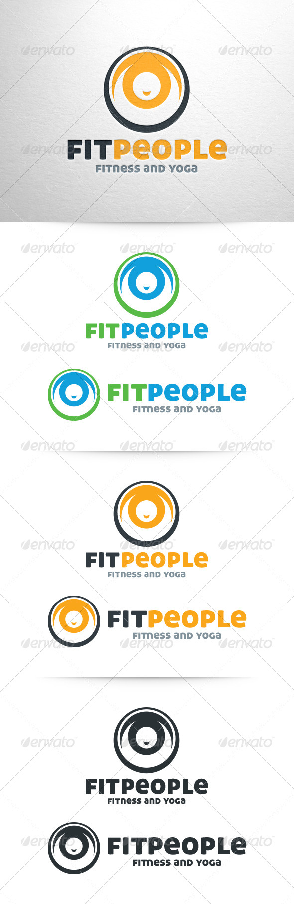 GraphicRiver Fit People Logo 6459739