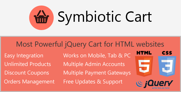 AJAX Cart for HTML websites with Orders & Invoices - CodeCanyon Item for Sale