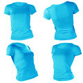women's blank blue t-shirt template - PhotoDune Item for Sale