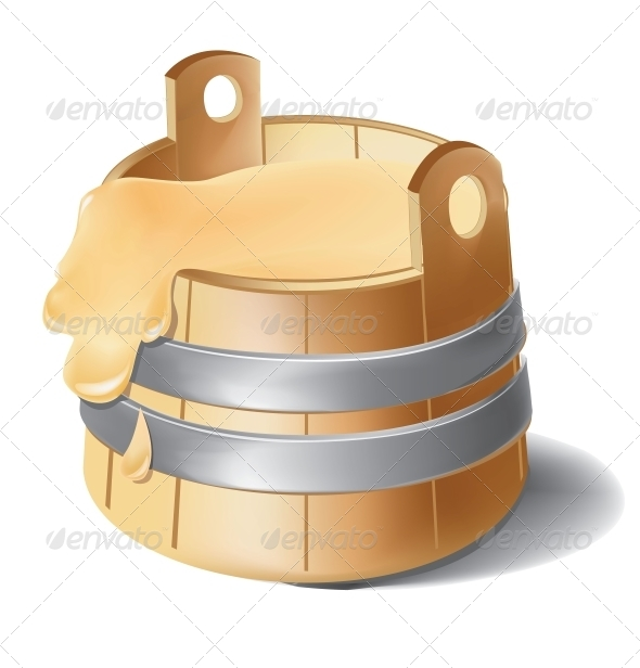 GraphicRiver Wooden Barrel of Honey with Metal Silver Clamps 6460211