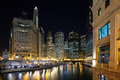 Chicago River at Dusk - PhotoDune Item for Sale