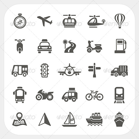 GraphicRiver Transportation Icons Set 6460642