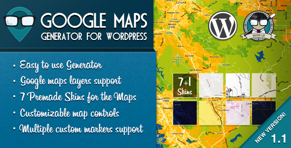 Google Maps Generator for WordPress - CodeCanyon Item for Sale