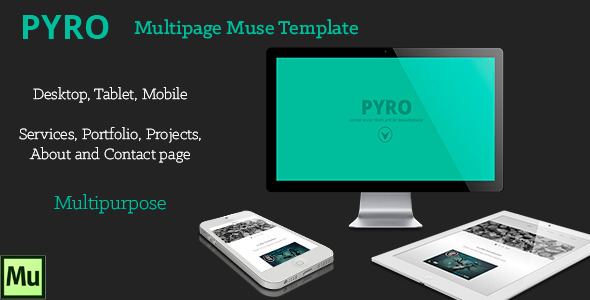 PYRO Multipage Muse Template - Corporate Muse Templates