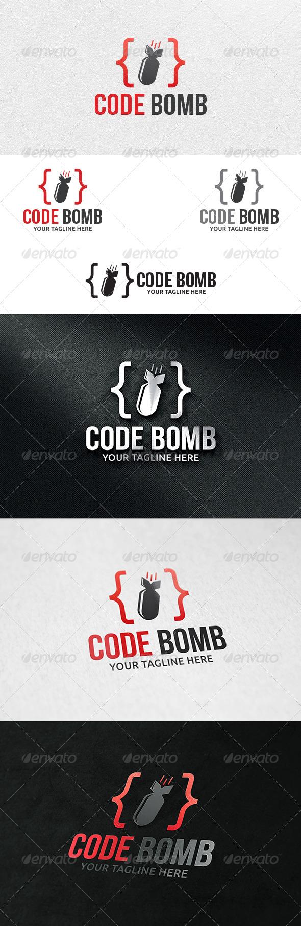 GraphicRiver Code Bomb Logo Template 6461471