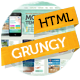 Grungy Mobile Portfolio HTML Theme - ThemeForest Item for Sale