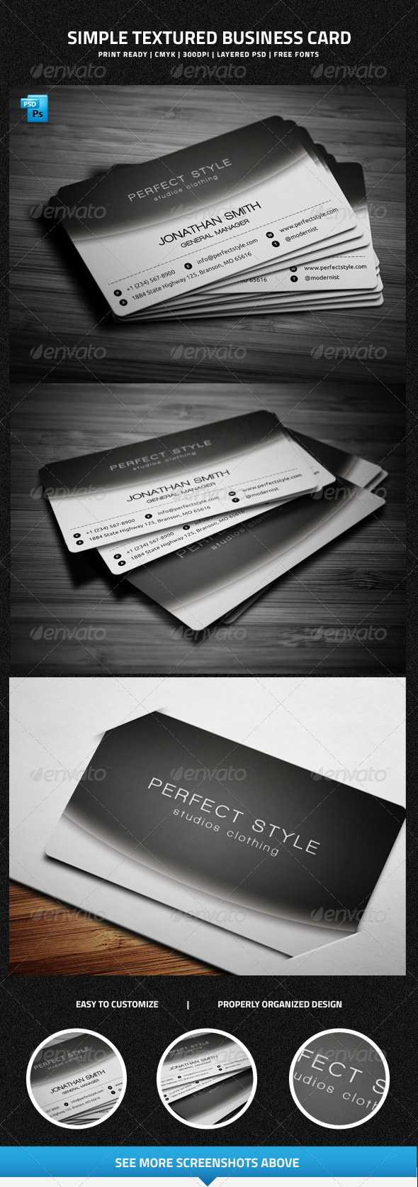 GraphicRiver Simple Textured Business Card 6461588