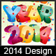 2014 Happy New Year - GraphicRiver Item for Sale