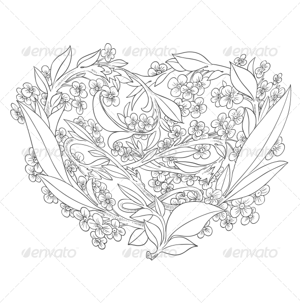 GraphicRiver Heart of Flowers 6462195