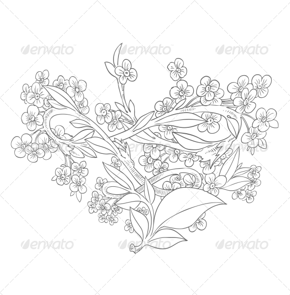 GraphicRiver Heart from Flowers 6462196