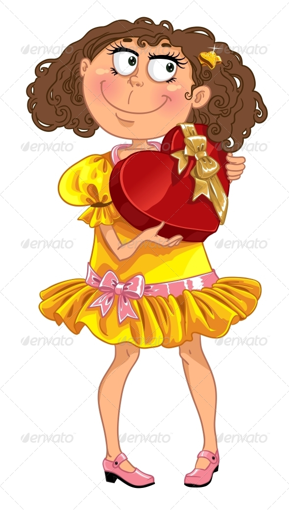 GraphicRiver Woman Hold a Box of Candys 6462200