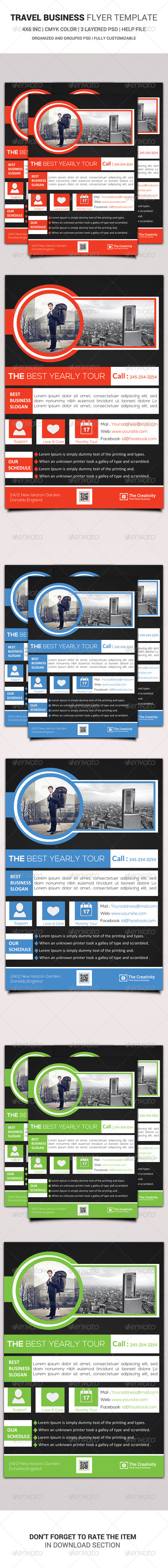 Travel Business Flyer Template - Corporate Flyers