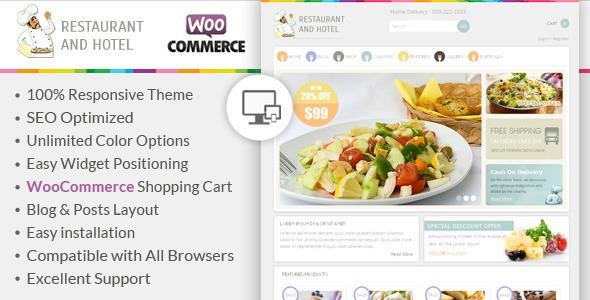 ThemeForest Restaurant Responsive WooCommerce Theme 6462988