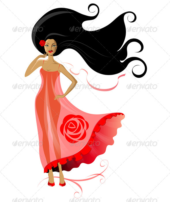GraphicRiver Woman in Pink Dress 6463552