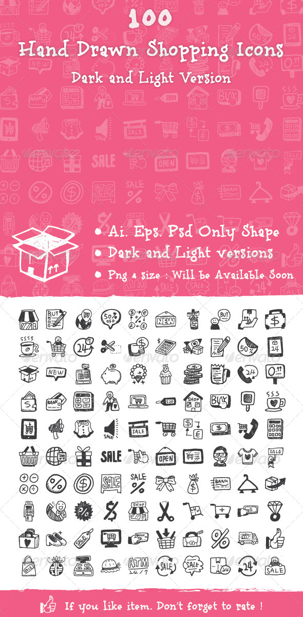 GraphicRiver Hand Drawn Shopping Icons 6464703