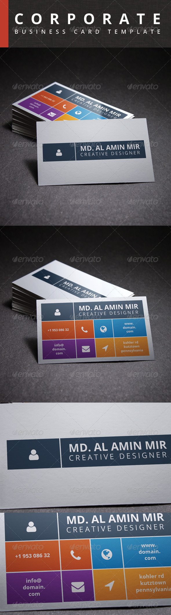 GraphicRiver Corporate Business Card 6432269