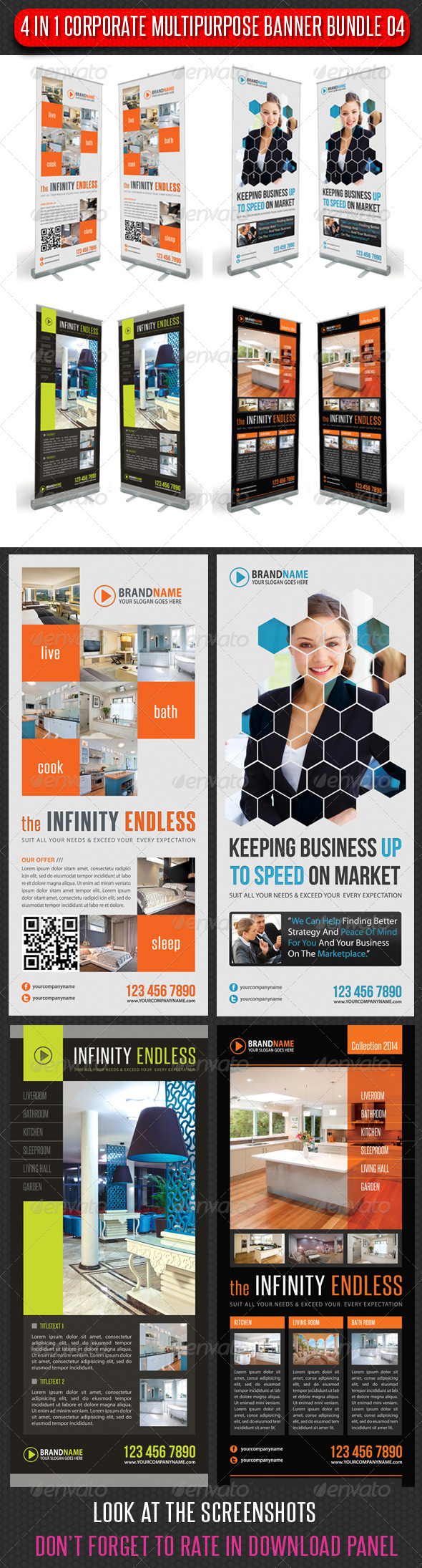 GraphicRiver 4 in 1 Corporate Multipurpose Banner Bundle 04 6465291