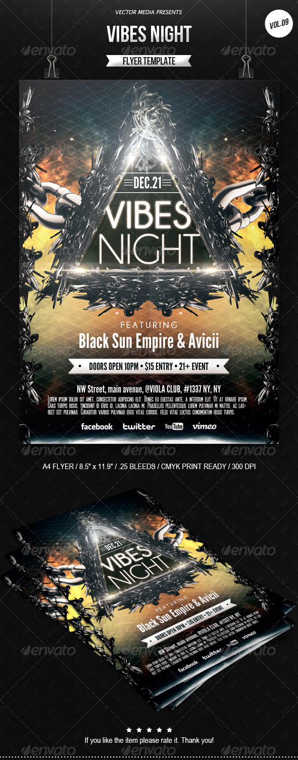 GraphicRiver Vibes Night Flyer [Vol.9] 6466337