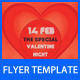 Valentine Day Party Flyer Template - GraphicRiver Item for Sale