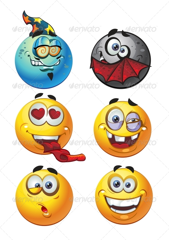 GraphicRiver Set of Emoticon Smiles 6466439