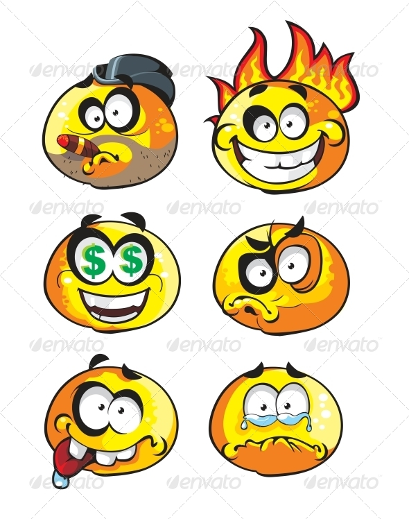 GraphicRiver Set of Emoticon Smiles 6466445