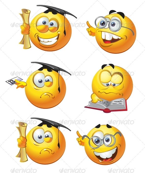 GraphicRiver Set of Emoticon Smiles 6466543