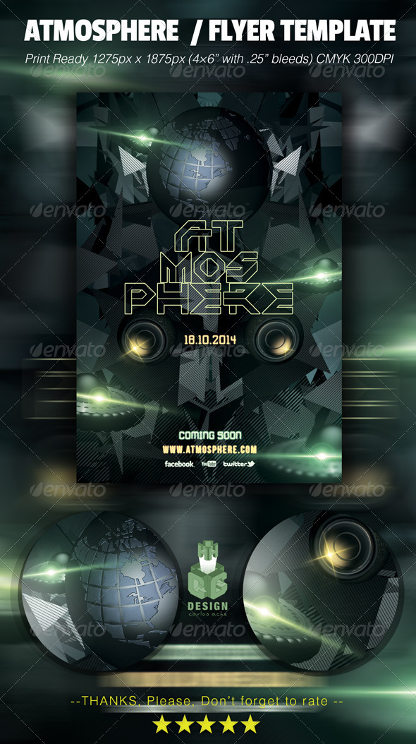 GraphicRiver Atmosphere Flyer Template 6467555