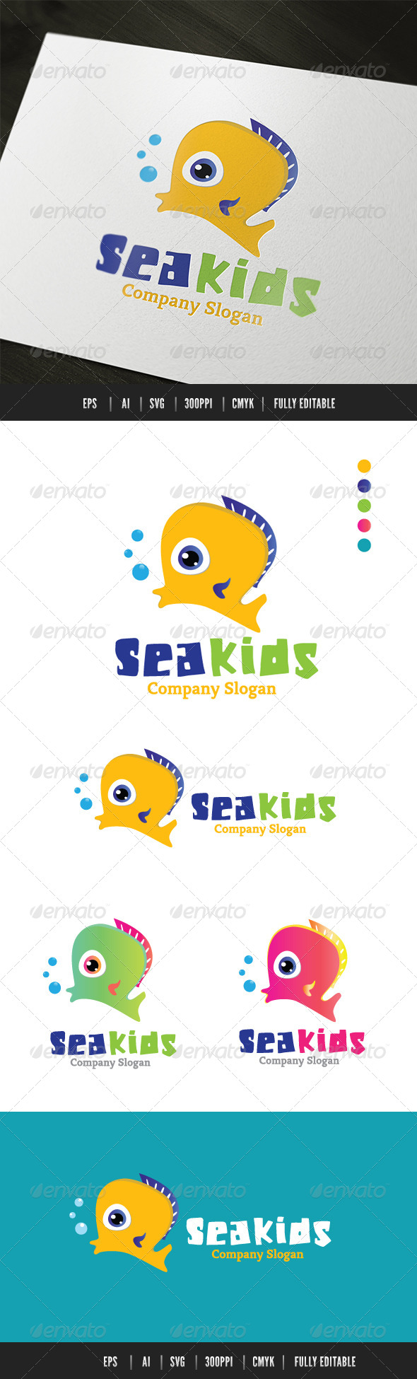 GraphicRiver Sea Kids 6467582