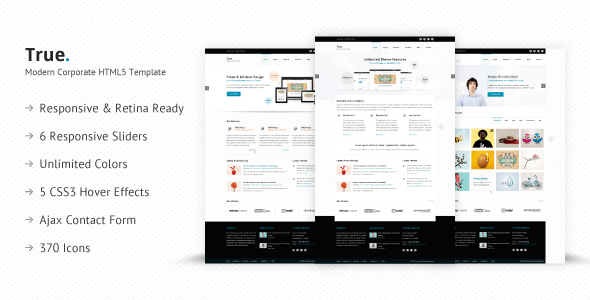 True - Retina Ready Multi Purpose HTML5 Template - Business Corporate